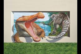 アルコサウルスVSカンプトサウルス(3Dポストカード)