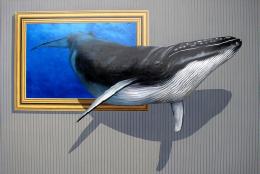 ミンククジラ(3Dポストカード)