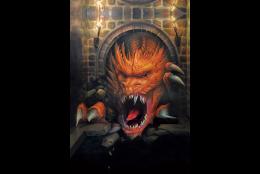 ドラゴンの城(3Dポストカード)