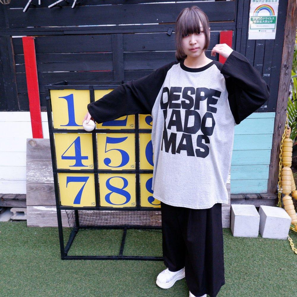 【DESPERADO+MAS】BASEBALL T-SHIRT(COLOR: GRAY,WHITE)