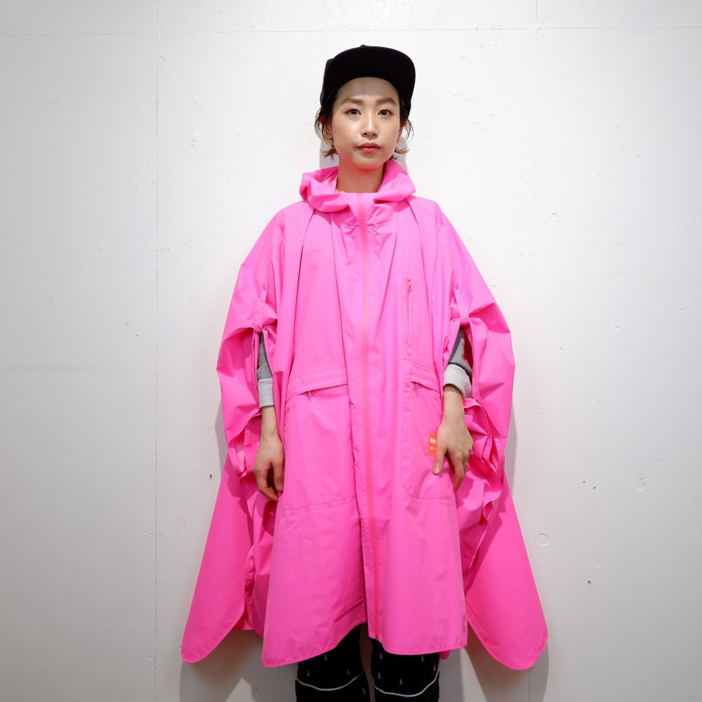 +【OOF】 waterproof cape / fucsia pink