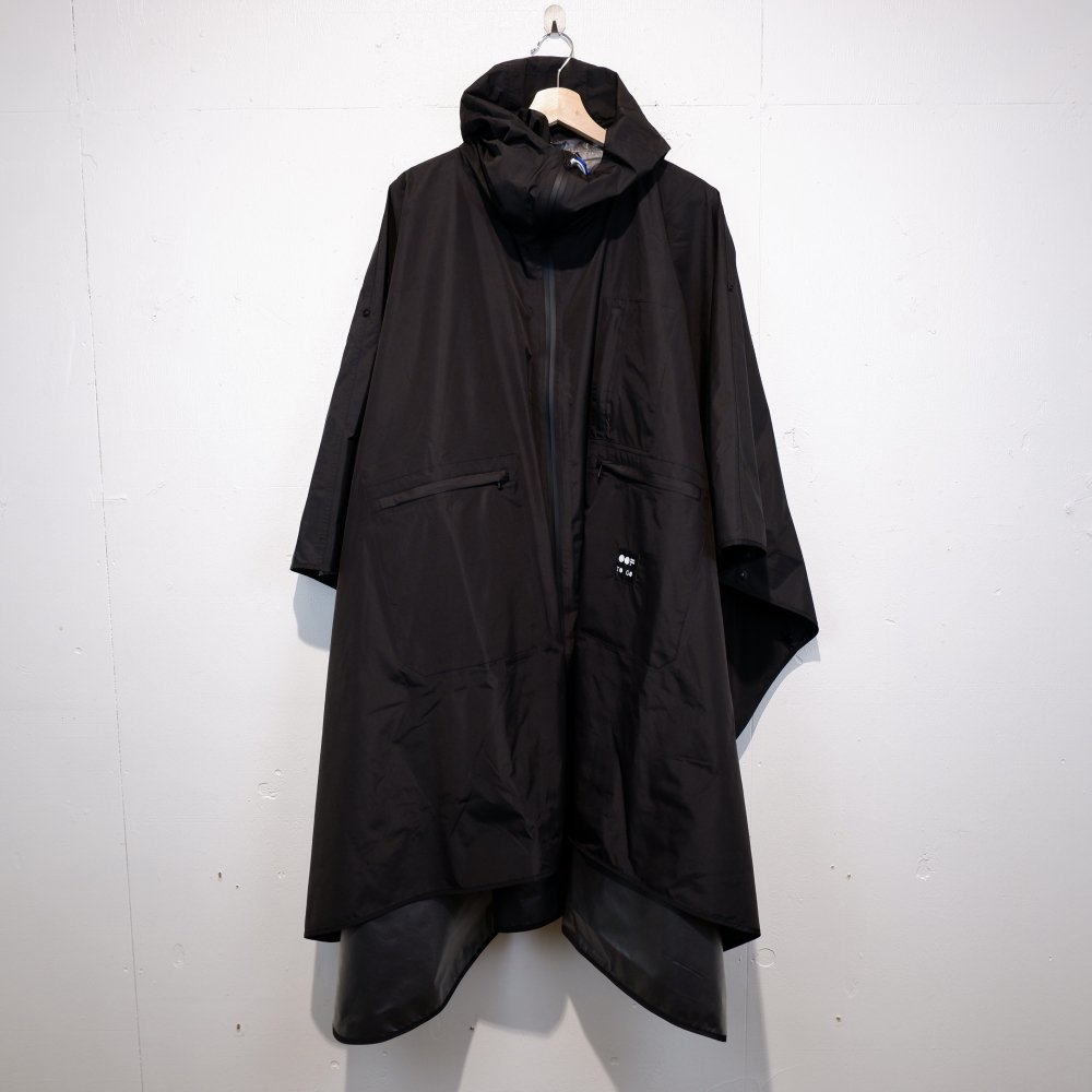 +【OOF】 waterproof cape / BLACK