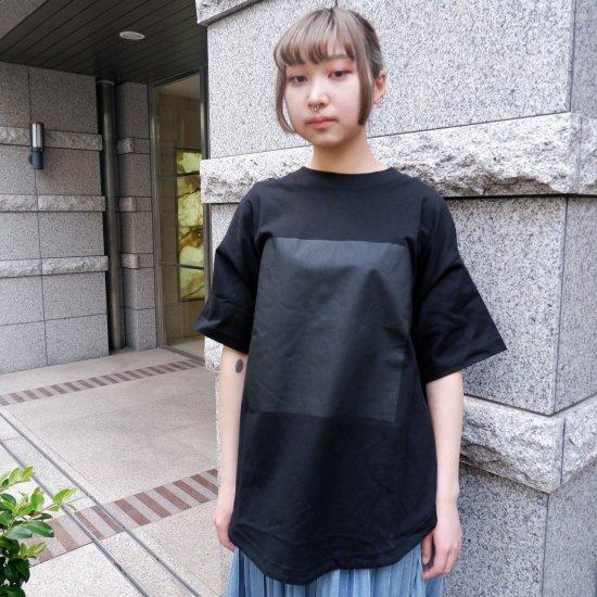 【RIDDLEMMA】Circle print T-shirt BK×BK