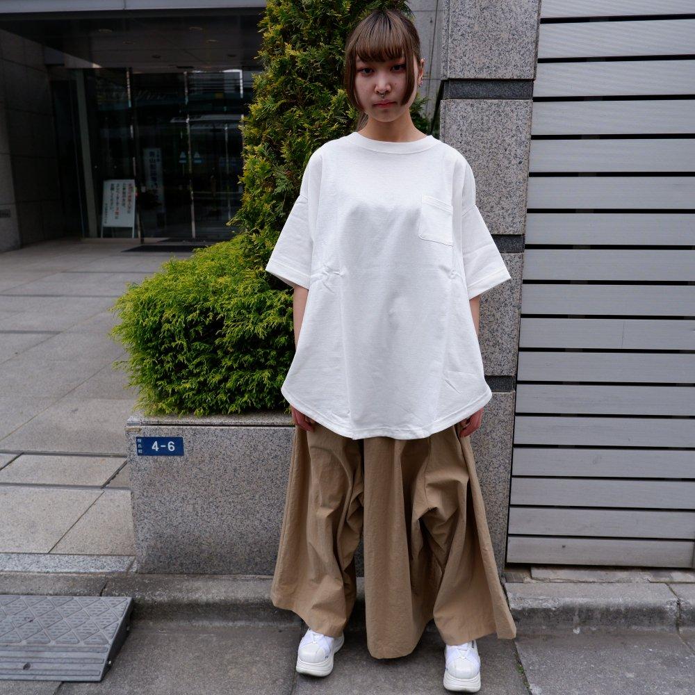 【RIDDLEMMA】Circle Pocket T-shirt Φ80 WHITE