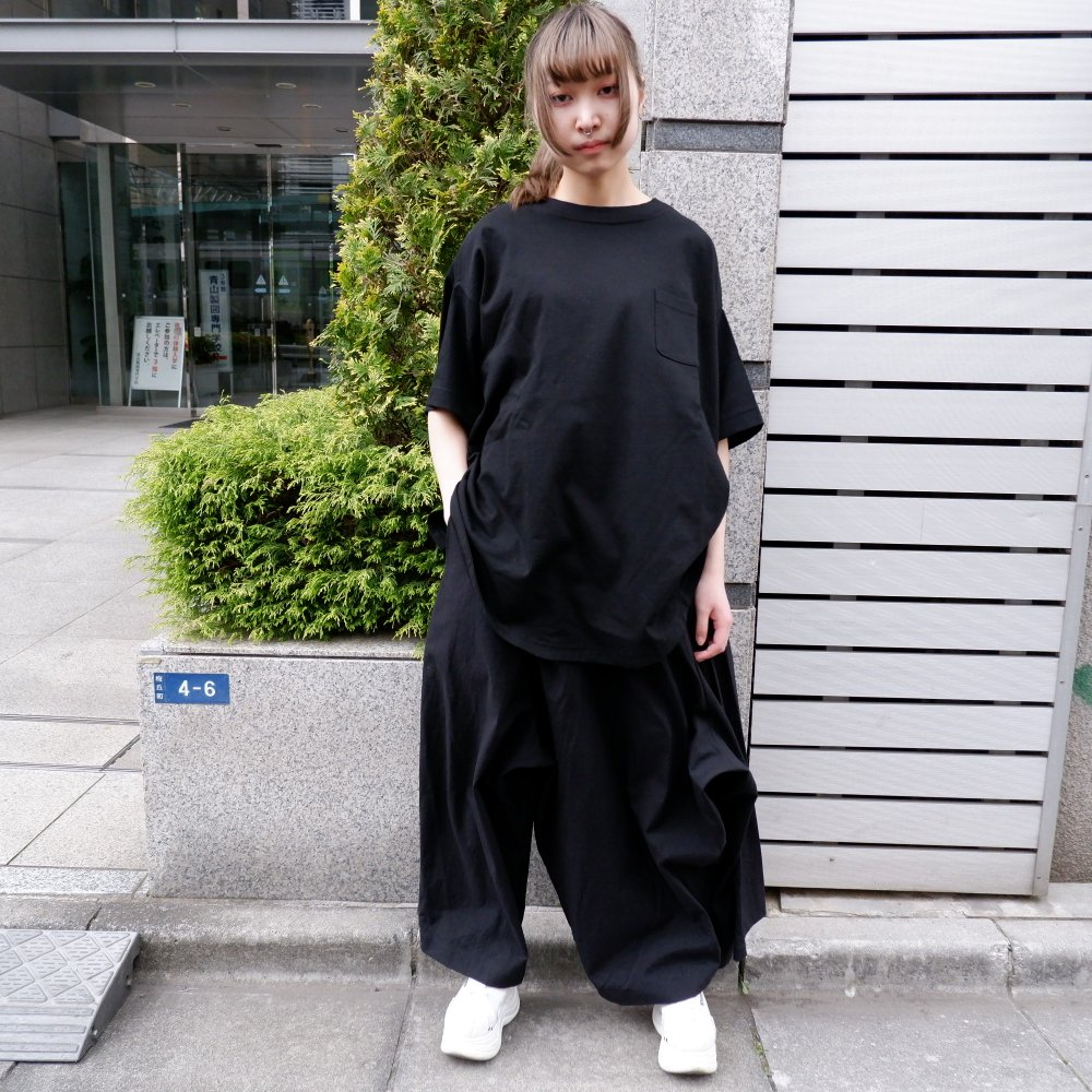 【RIDDLEMMA】Circle Pocket T-shirt Φ80 BLACK