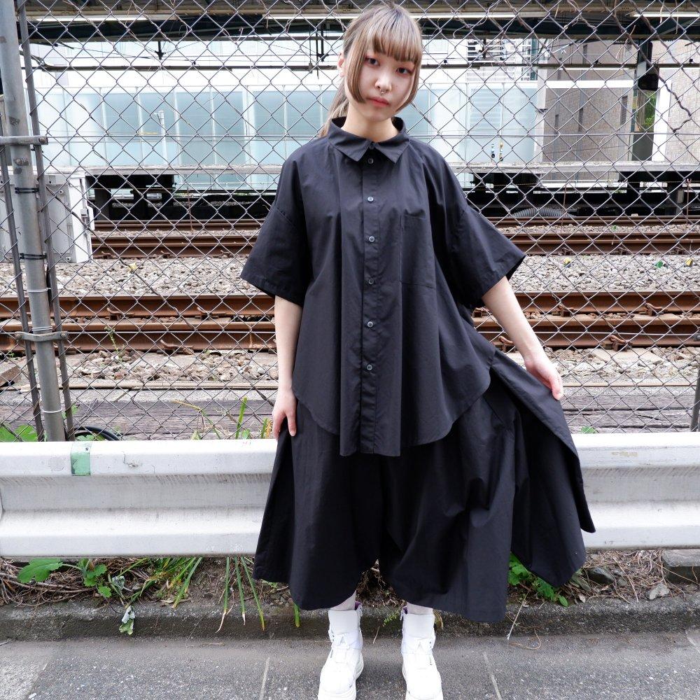 【RIDDLEMMA】Circle edge shirt Φ80 BLACK