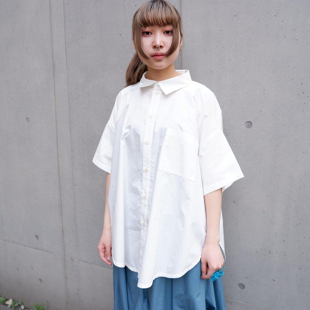 【RIDDLEMMA】Circle edge shirt Φ80 WHITE