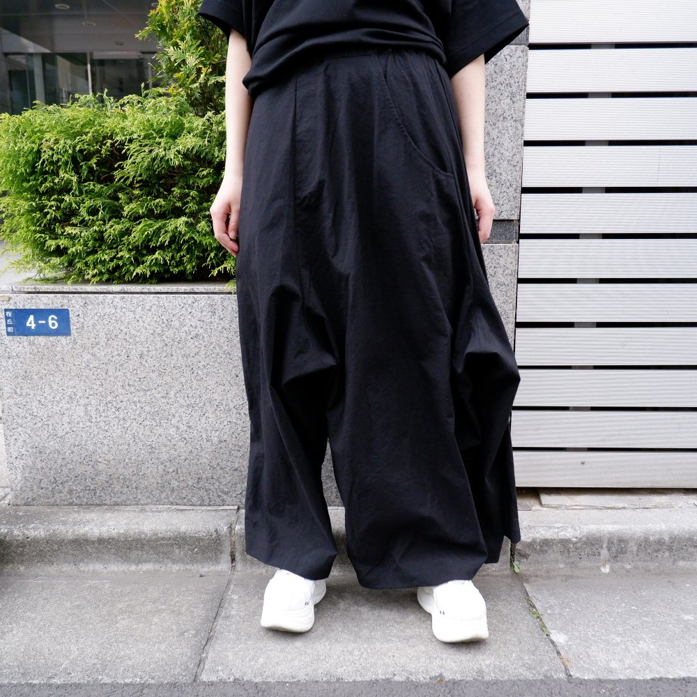 【RIDDLEMMA】Three legs pants(long) BLACK NYLON 100%