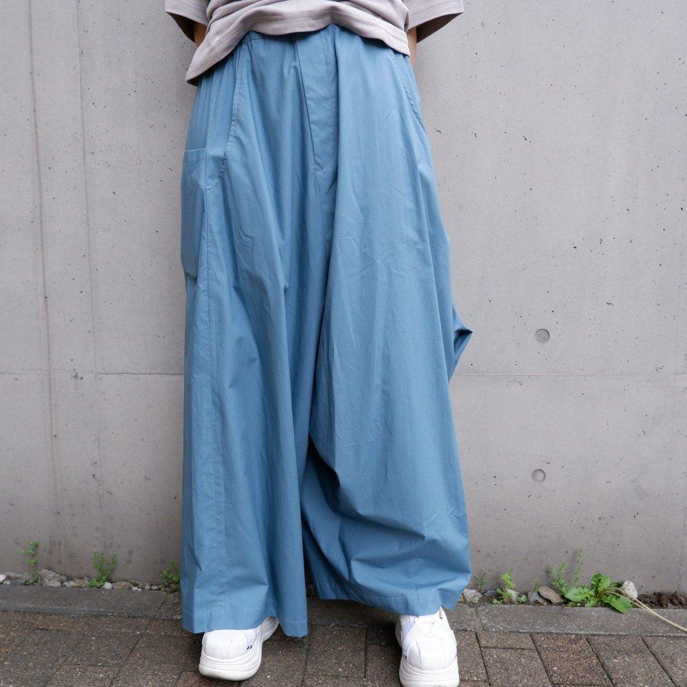 【RIDDLEMMA】Three legs pants(long)BLUE COTTON100%