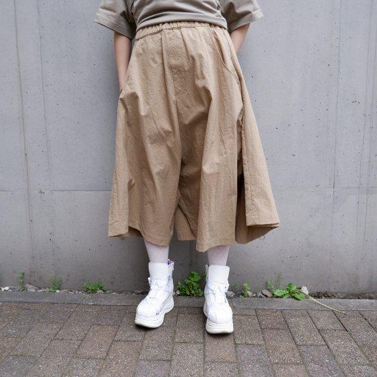 【RIDDLEMMA】Three legs pants(half)BEIGE NYLON100%