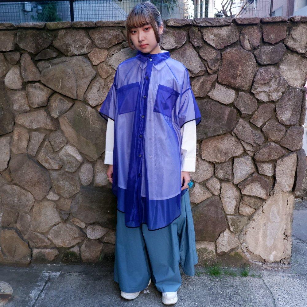 【RIDDLEMMA】Circle organdy shirt Φ100 BLUE