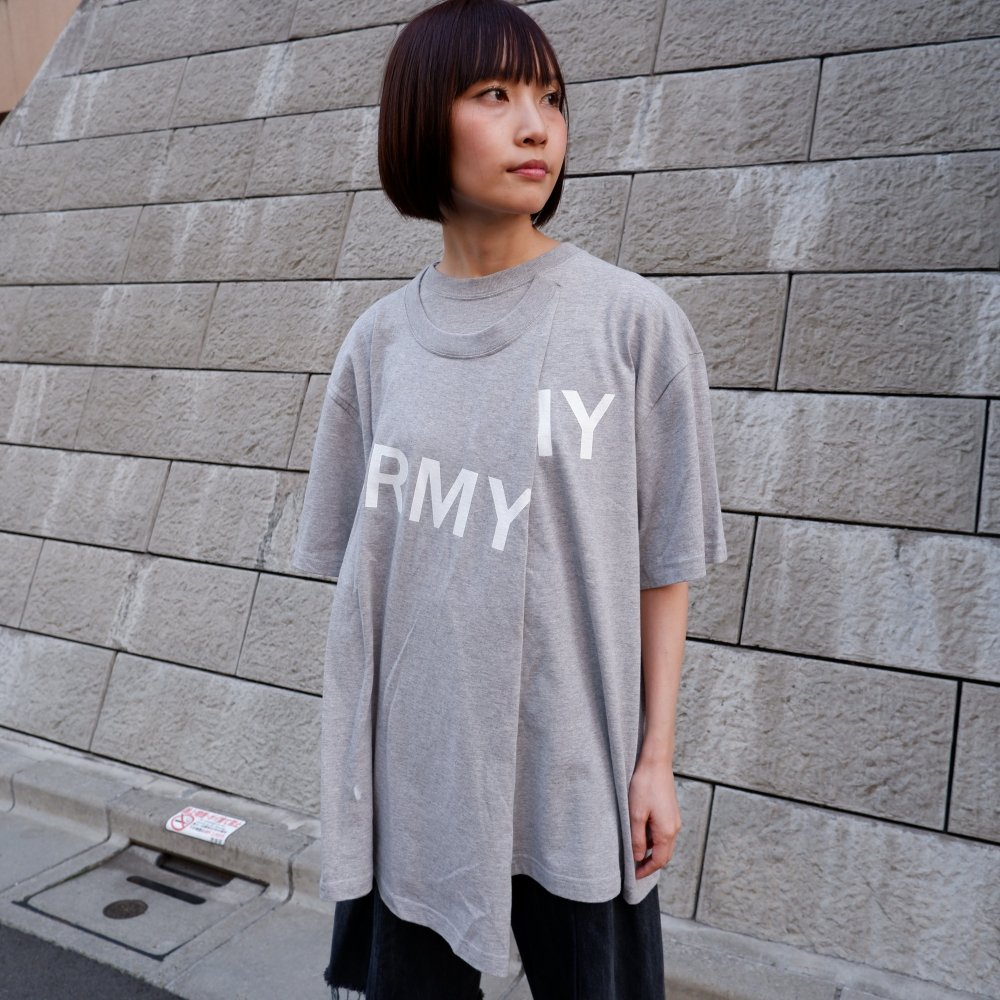 【TSUNG YU CHAN】 army t-shirt /grey