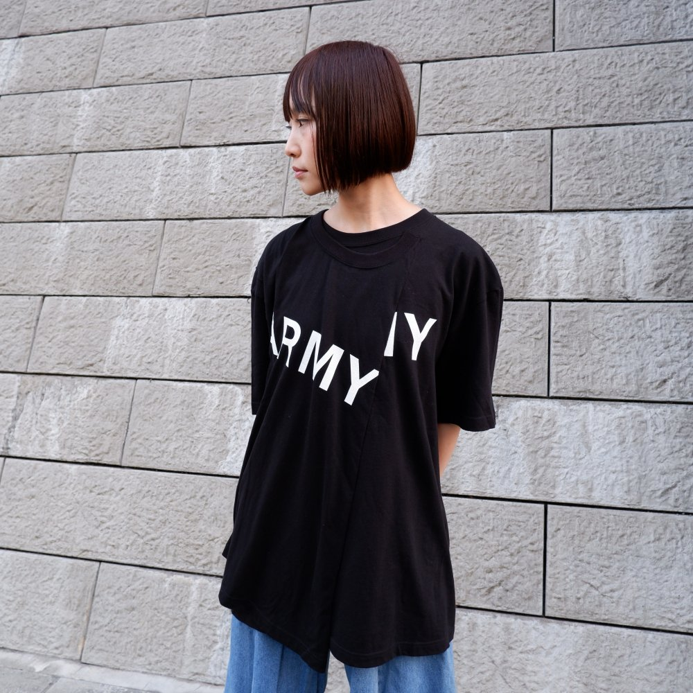 【TSUNG YU CHAN】 army t-shirt /black