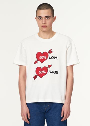 +【VAQUERA】 short sleeve tee with love print