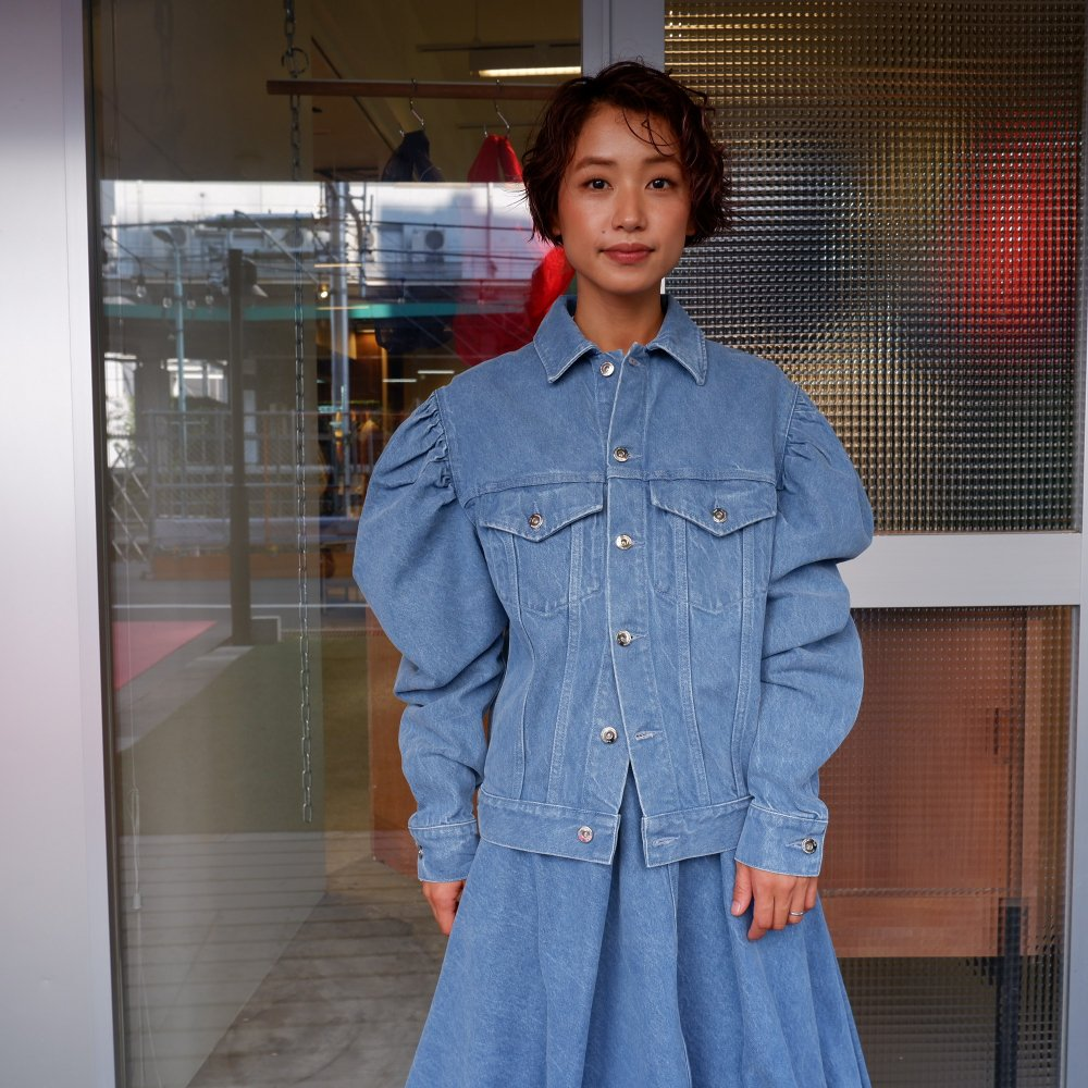 <img class='new_mark_img1' src='https://img.shop-pro.jp/img/new/icons1.gif' style='border:none;display:inline;margin:0px;padding:0px;width:auto;' />【MARQUES ALMEIDA】 BALOON SLEEVE  JACKET