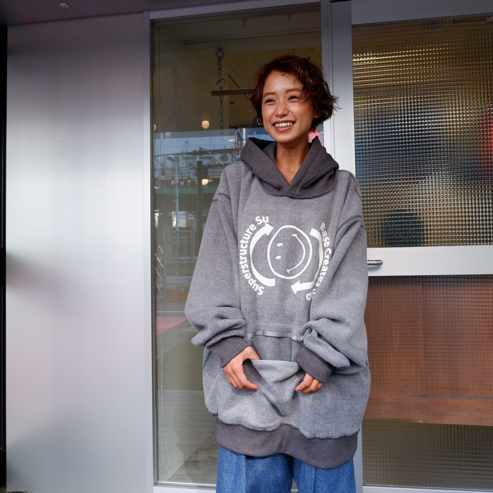 <img class='new_mark_img1' src='https://img.shop-pro.jp/img/new/icons1.gif' style='border:none;display:inline;margin:0px;padding:0px;width:auto;' />【BODYSONG.】HOODIE/ACID CHARCOAL
