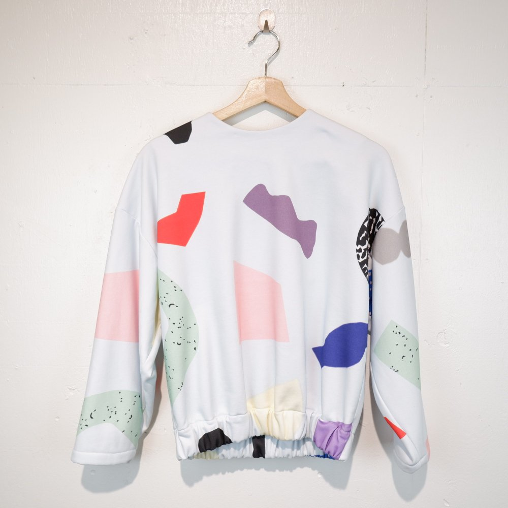 <img class='new_mark_img1' src='https://img.shop-pro.jp/img/new/icons1.gif' style='border:none;display:inline;margin:0px;padding:0px;width:auto;' />【FORM OF INTEREST】 KONFETTI MINT CROPPED JUMPER