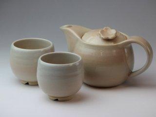 椿秀窯 土茶の間セット(茶こし付)