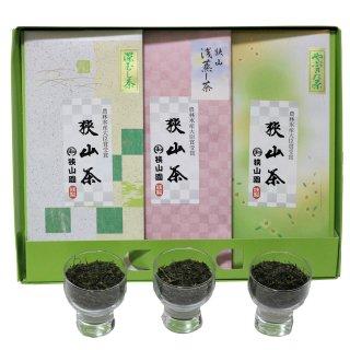和幸の森ギフトF (ヤブキタ茶・深蒸し茶・サクラ煎茶)