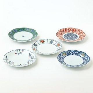 輪花皿6寸皿