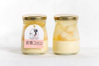 季節のフルーツプリン(桃、8月までの販売)