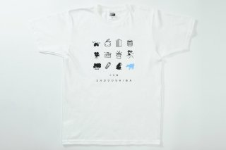 Tシャツ(ホワイト・ドット柄)