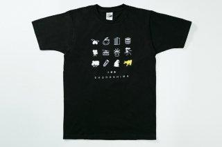 Tシャツ(ブラック・ドット柄)