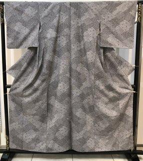 結城紬 松煙染 身丈159� 裄68� 袖丈49�