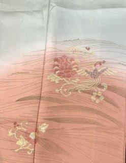 訪問着 花蝶刺繍