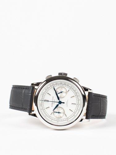 Heritage Chronograph シルバーケース ホワイトダイアル ブラックレザー 時計