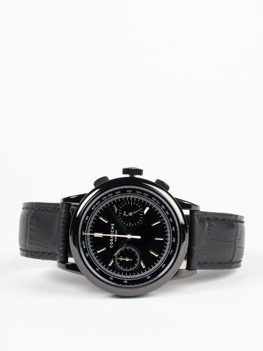 Heritage Chronograph ブラックケース ブラックダイアル ブラックレザー 時計