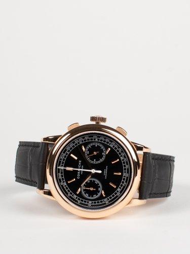 Heritage Chronograph ローズゴールドケース ブラックダイアル ブラックレザー 時計