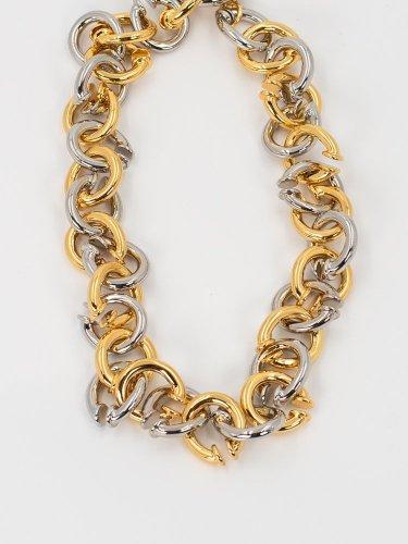 Signature Twist Earcuff Two Color Chain Necklace