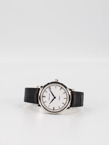 The Heritage 36 シルバーケース ホワイトフェイス ブラックレザー 時計