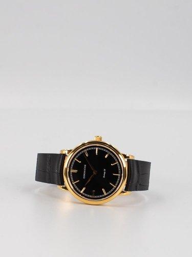 The Heritage 36イエローゴールドケース ブラックフェイスブラックレザー 時計
