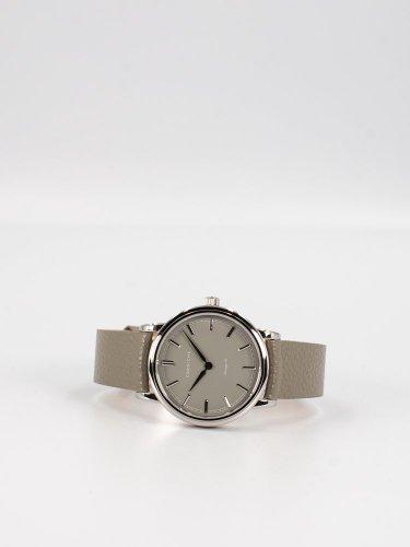 The Heritage 36シルバーケース トープダイアルトープグレーレザー 時計