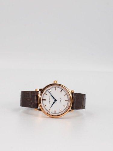 The Heritage 36ローズゴールドケース ホワイトフェイスブラウンレザー 時計