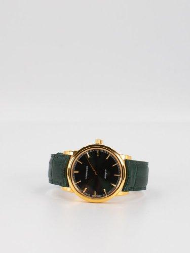 The Heritage 40 イエローゴールドケース グリーンダイアル グリーンレザー 時計