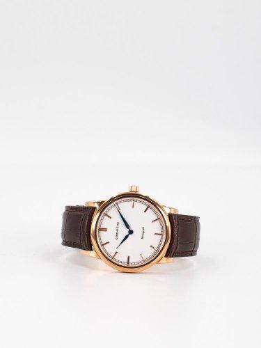 The Heritage 40 ローズゴールドケース ホワイトダイアル ブラウンレザー 時計