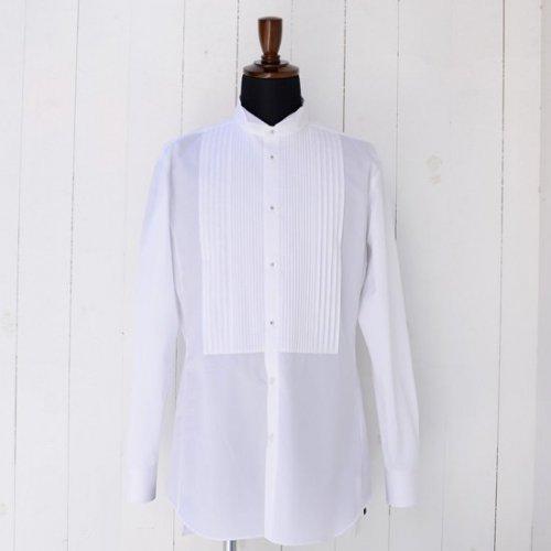 ウィングカラー×プリーツ ドレスシャツ