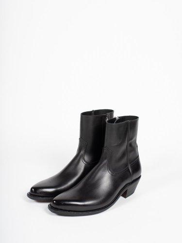ウエスタンドレスサイドジップブーツ  ブラック