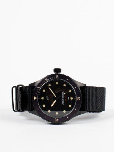 1926 At'sea All Black Vintage ナトーストラップ  時計
