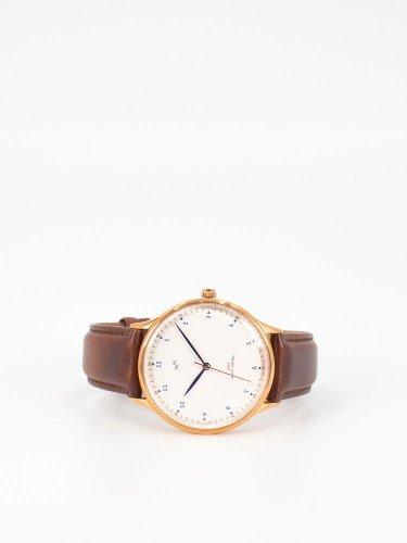 1969 Vintage 時計 ローズゴールド ダークブラウンストラップ
