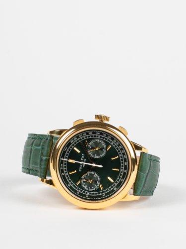 Heritage Chronograph イエローゴールドケース グリーンダイアル グリーンレザー 時計