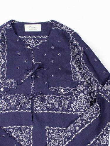 BANDANA PULLOVER SHIRT BLUE