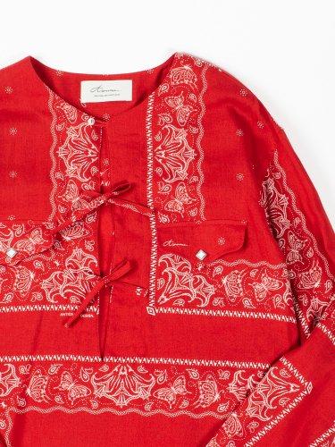 BANDANA PULLOVER SHIRT RED