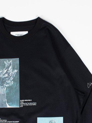 CLOSE & PLAID DRESS LONG SLEEVE T-SHIRT BLACK