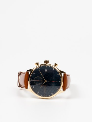 1815 CHRONOGRAPH GOLD/BLUE TURTLE REDクロノグラフ時計 ブルータートル