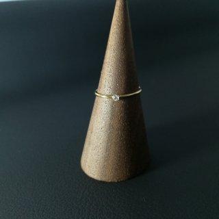 【Zirconia ring 】14kgf キュービックジルコニア 一粒リング