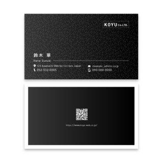 オンデマンド名刺 女性名刺 両面白黒 の商品画像